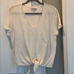 Madewell texture & thread top size xl
